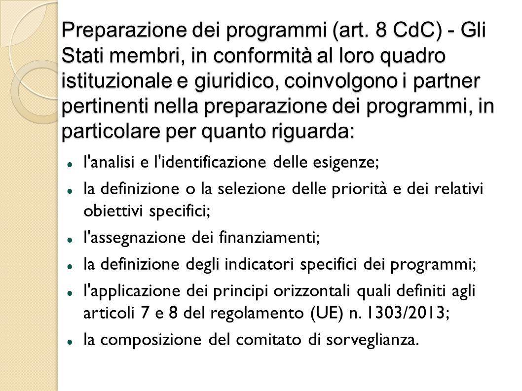 Preparazione dei programmi (art