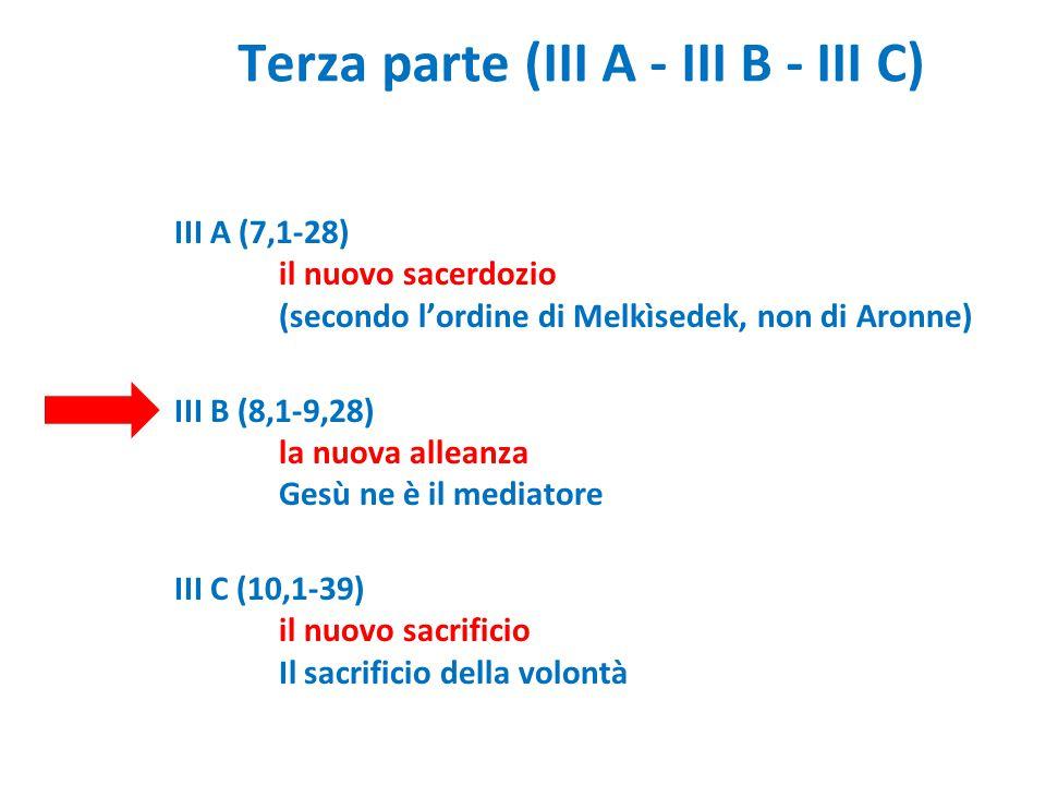 Terza parte (III A - III B - III C)
