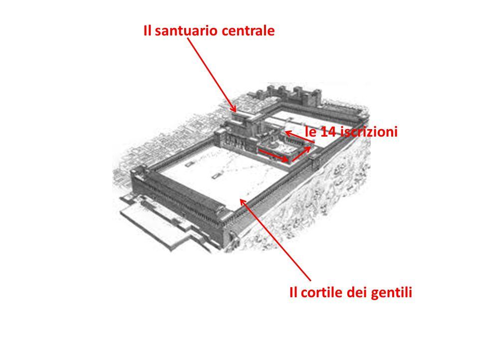 Il santuario centrale le 14 iscrizioni Il cortile dei gentili