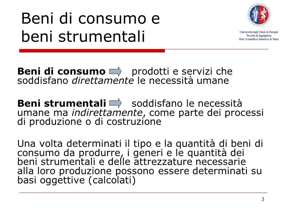 Beni di consumo e beni strumentali