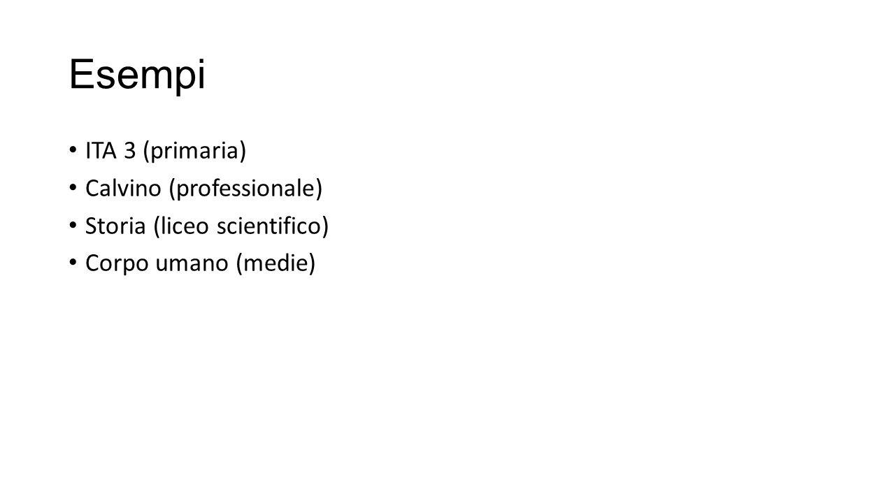 Esempi ITA 3 (primaria) Calvino (professionale)