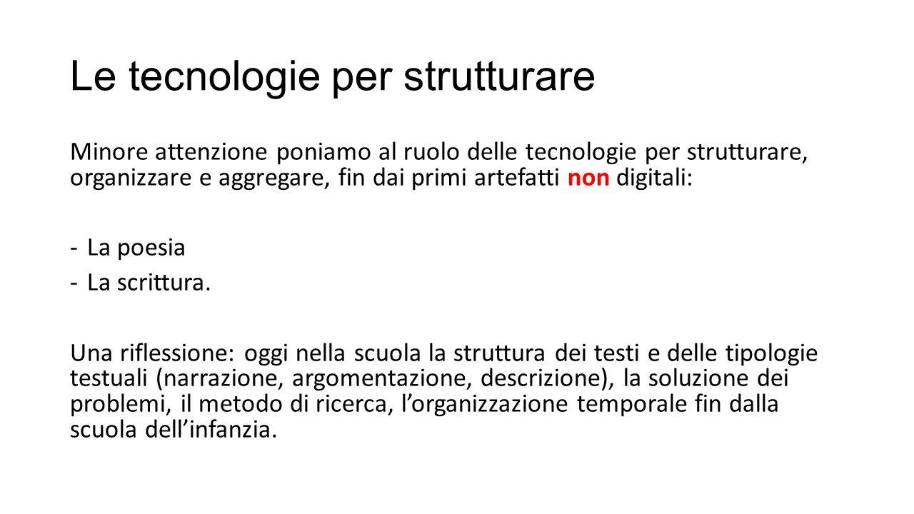 Le tecnologie per strutturare