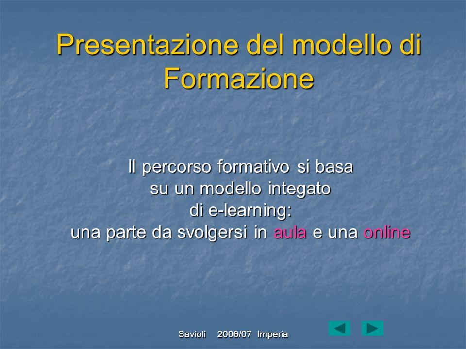 Presentazione del modello di Formazione