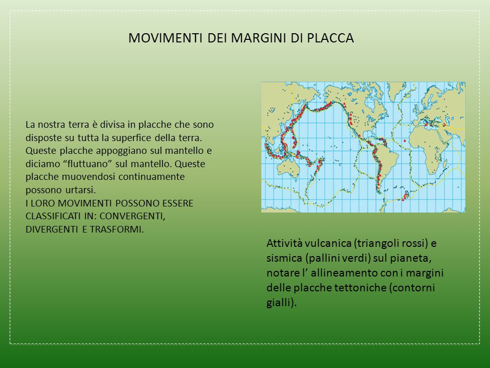 MOVIMENTI DEI MARGINI DI PLACCA