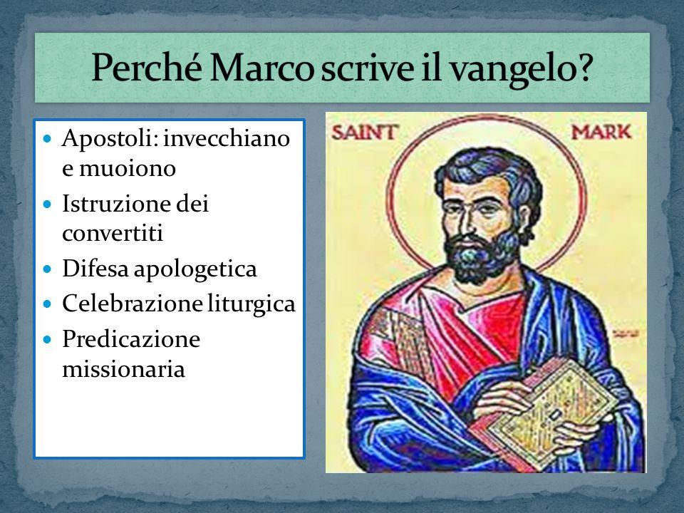 Perché Marco scrive il vangelo