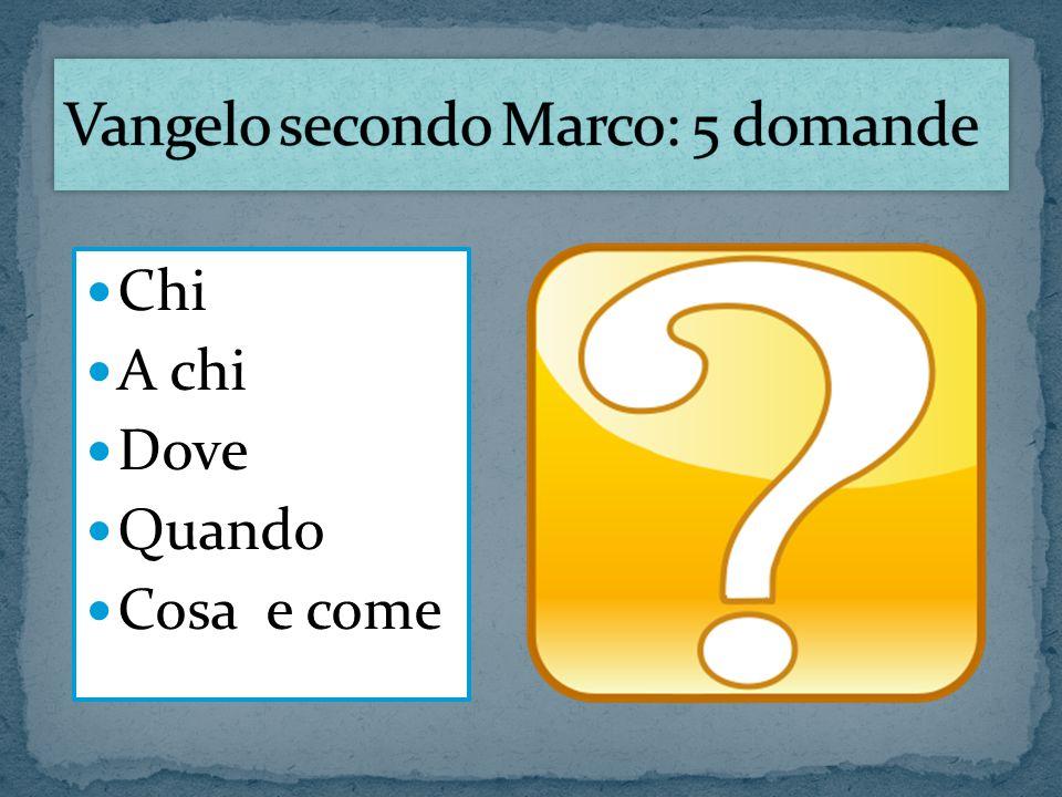 Vangelo secondo Marco: 5 domande