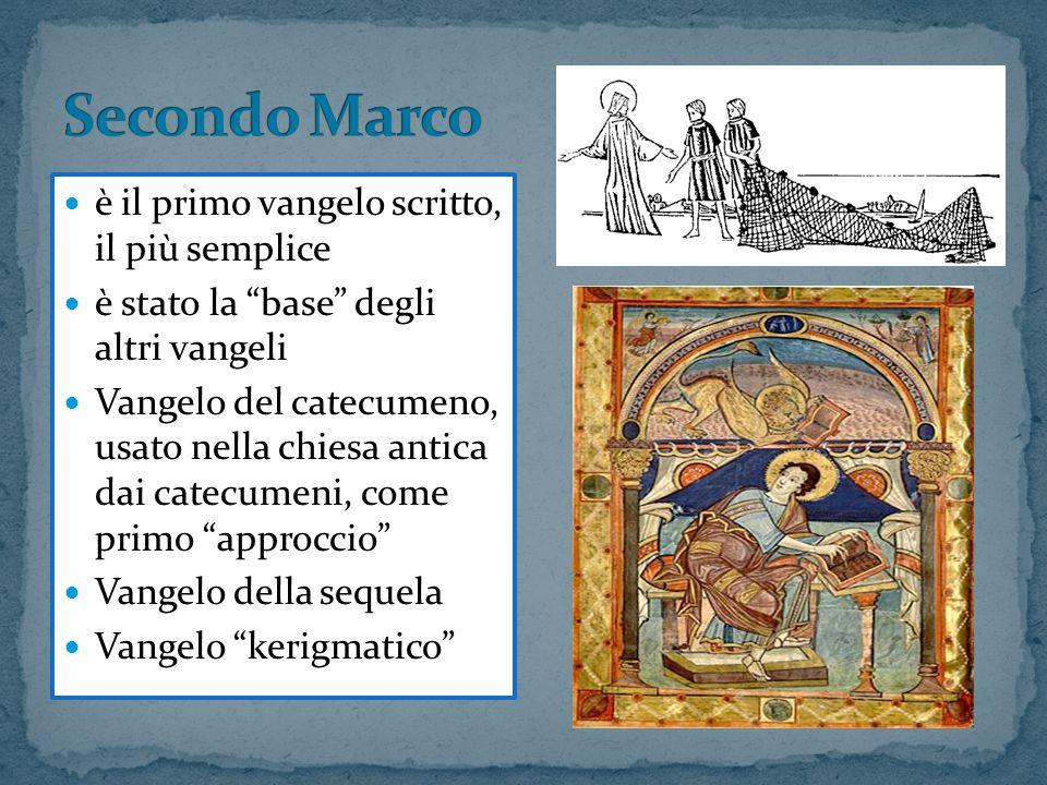 Secondo Marco è il primo vangelo scritto, il più semplice