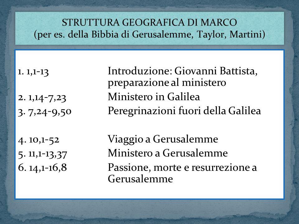 1. 1,1-13 Introduzione: Giovanni Battista, preparazione al ministero
