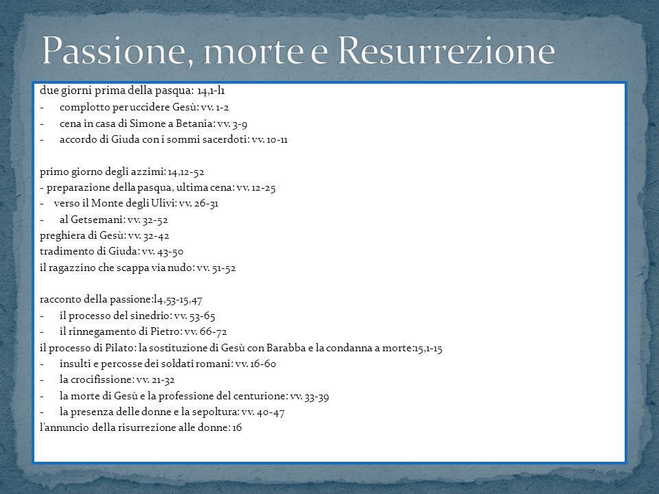 Passione, morte e Resurrezione