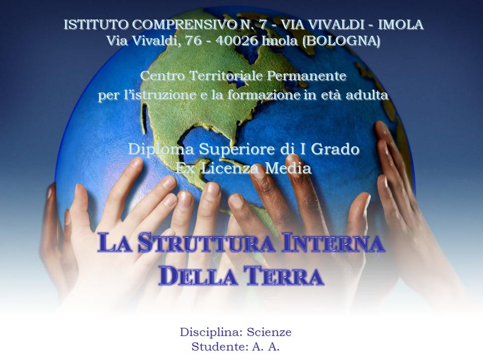 Ex Licenza Media ISTITUTO COMPRENSIVO N. 7 - VIA VIVALDI - IMOLA