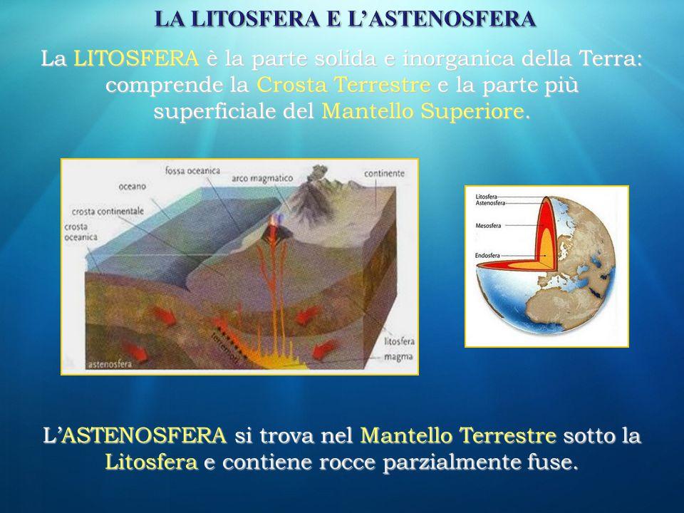 LA LITOSFERA E L'ASTENOSFERA