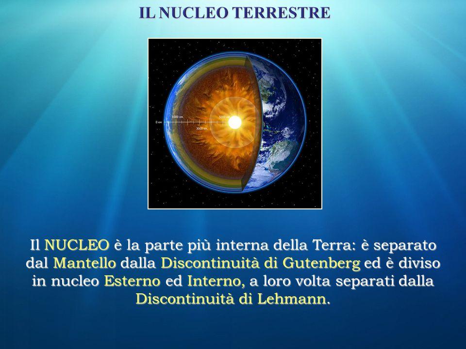 Il NUCLEO è la parte più interna della Terra: è separato