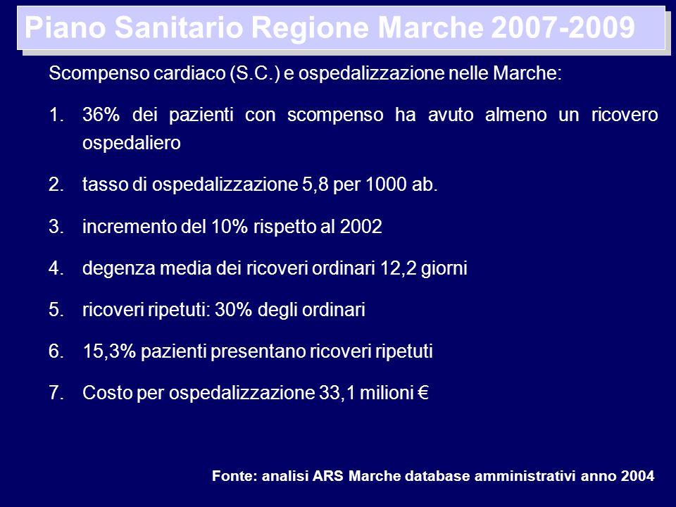 Piano Sanitario Regione Marche 2007-2009