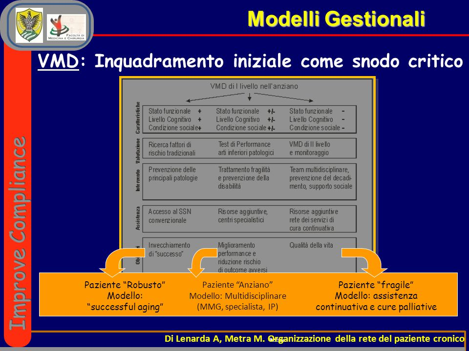 VMD: Inquadramento iniziale come snodo critico