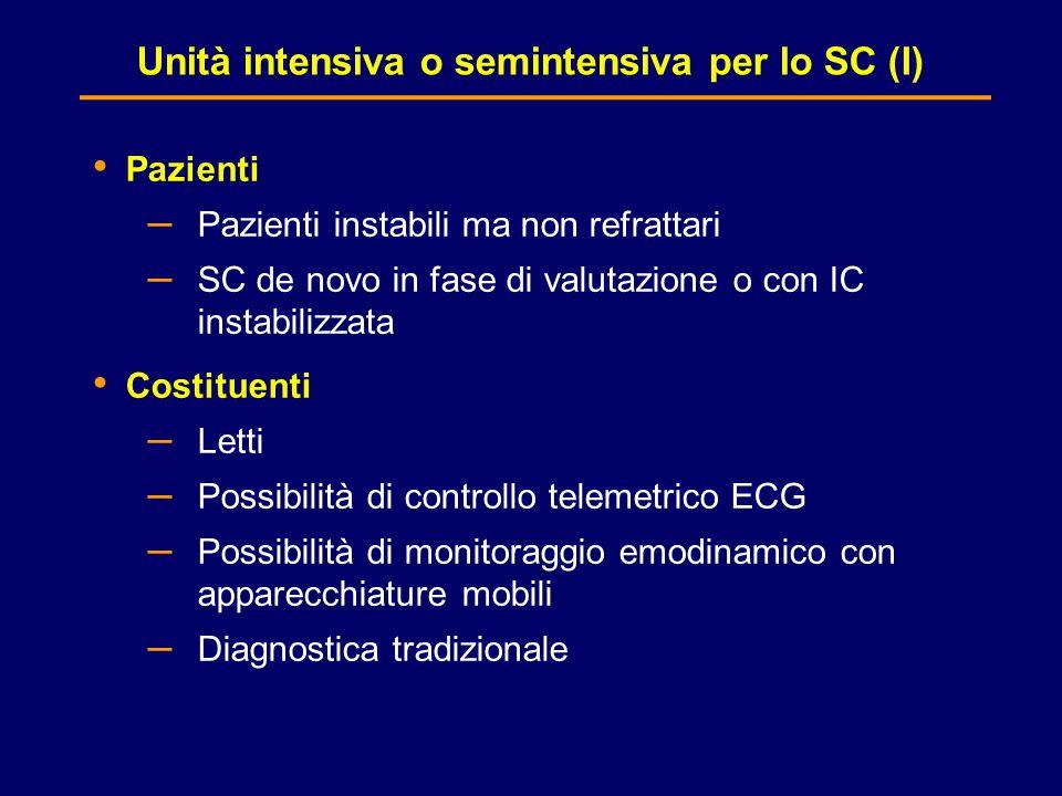 Unità intensiva o semintensiva per lo SC (I)