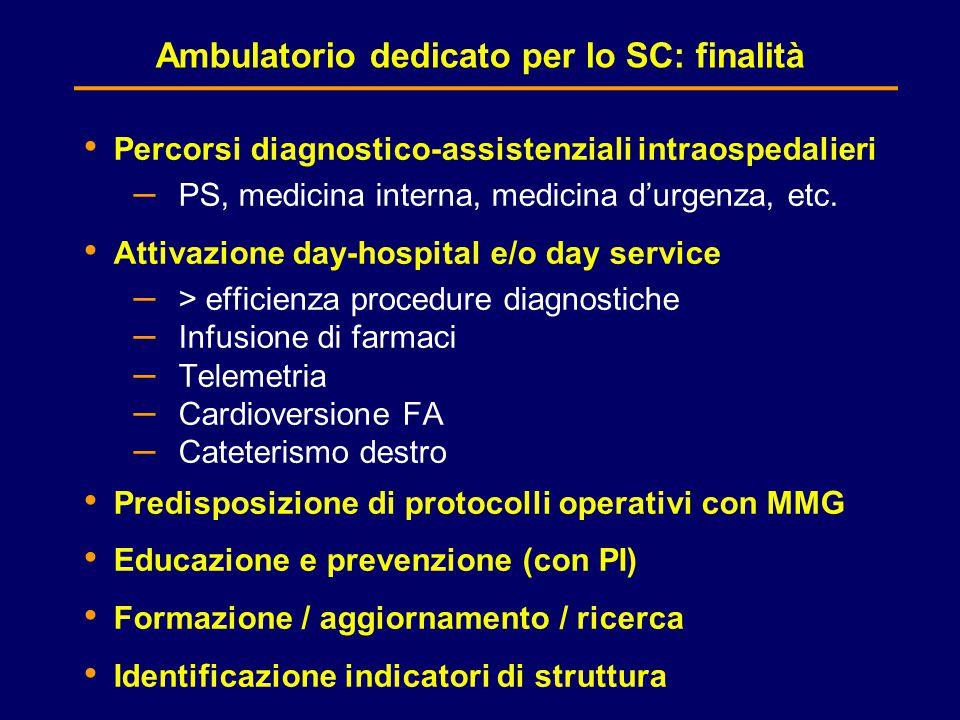 Ambulatorio dedicato per lo SC: finalità
