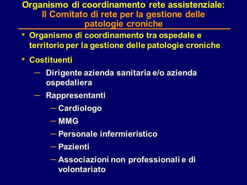 Organismo di coordinamento rete assistenziale: Il Comitato di rete per la gestione delle patologie croniche