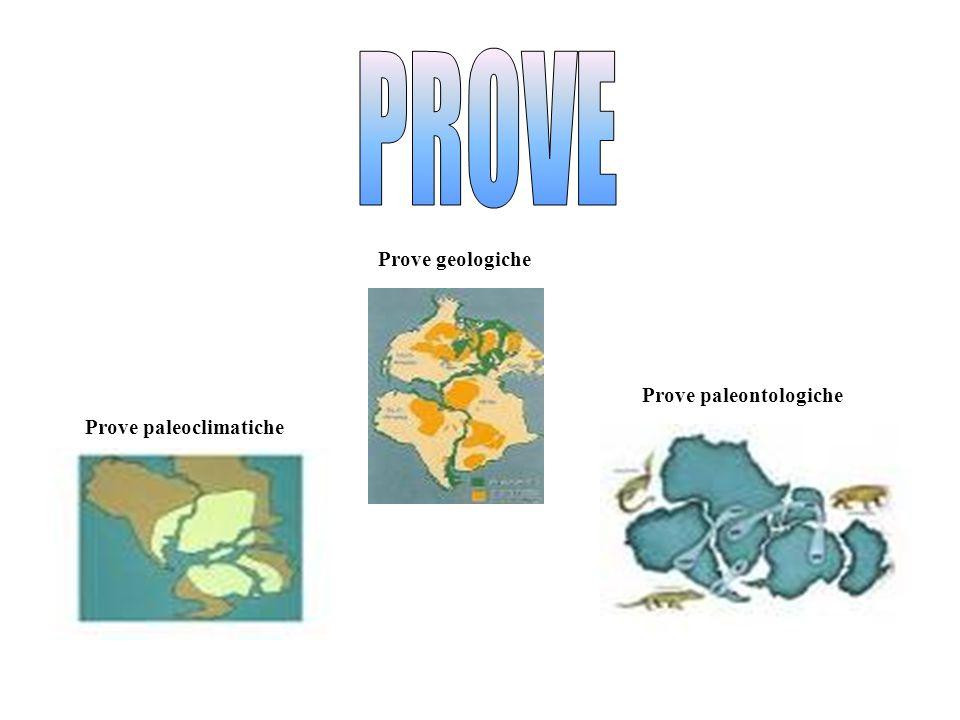 PROVE Prove geologiche Prove paleontologiche Prove paleoclimatiche