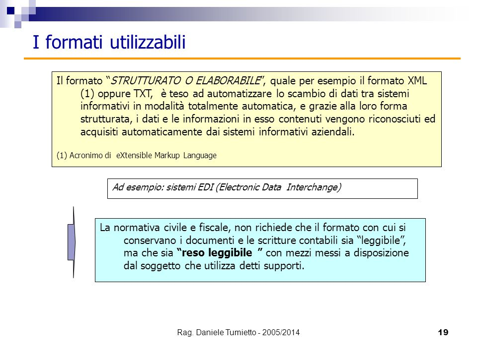Rag. Daniele Tumietto - 2005/2014