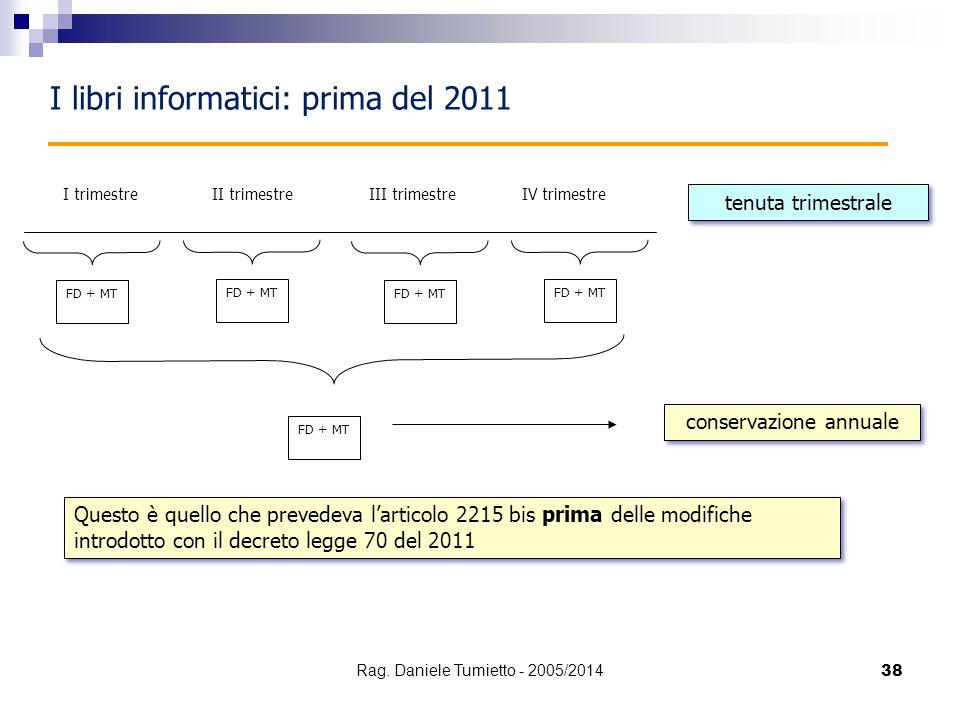I libri informatici: prima del 2011