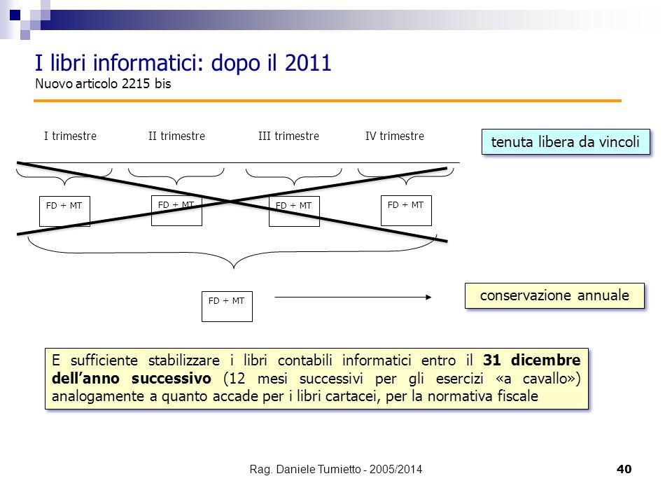 I libri informatici: dopo il 2011