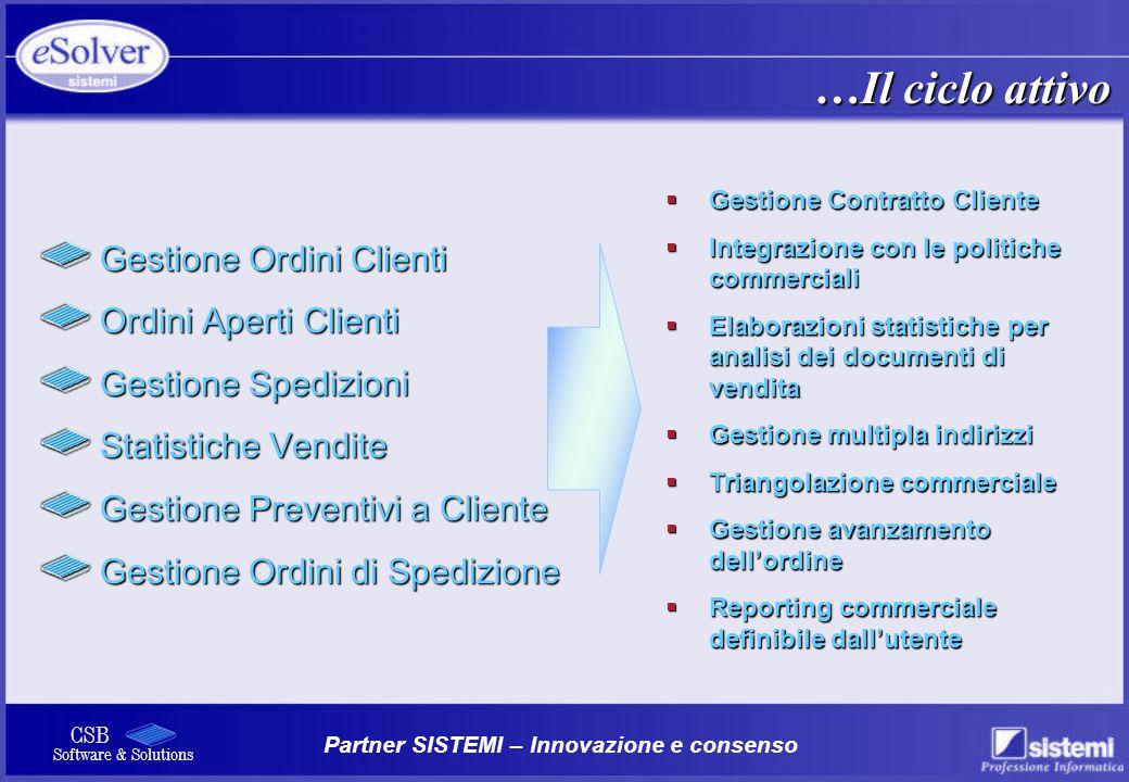 …Il ciclo attivo Gestione Ordini Clienti Ordini Aperti Clienti