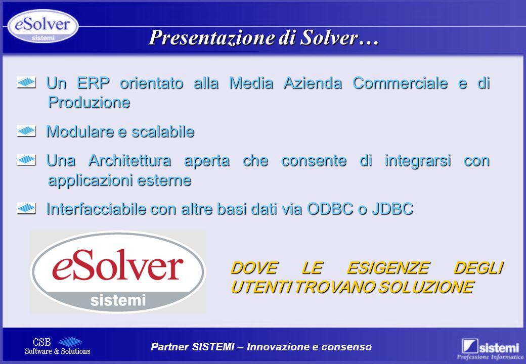 Presentazione di Solver…