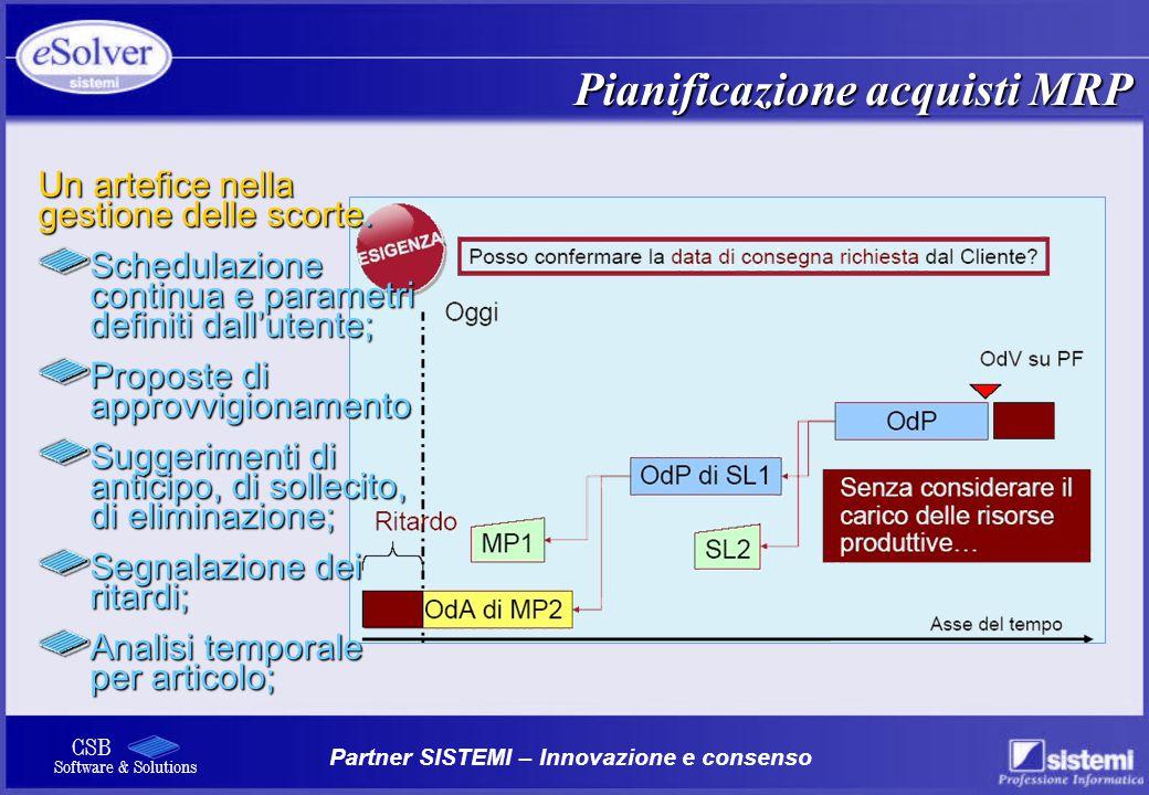 Pianificazione acquisti MRP