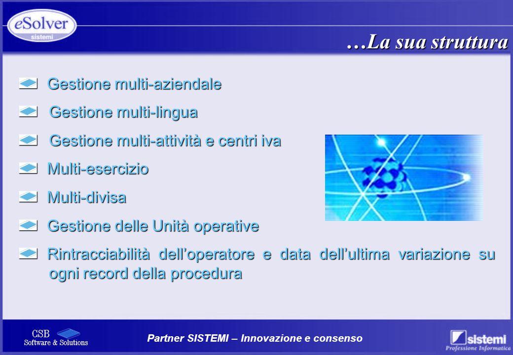 …La sua struttura Gestione multi-aziendale Gestione multi-lingua