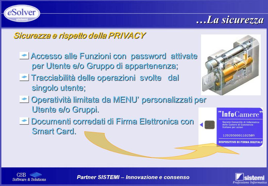 …La sicurezza Sicurezza e rispetto della PRIVACY
