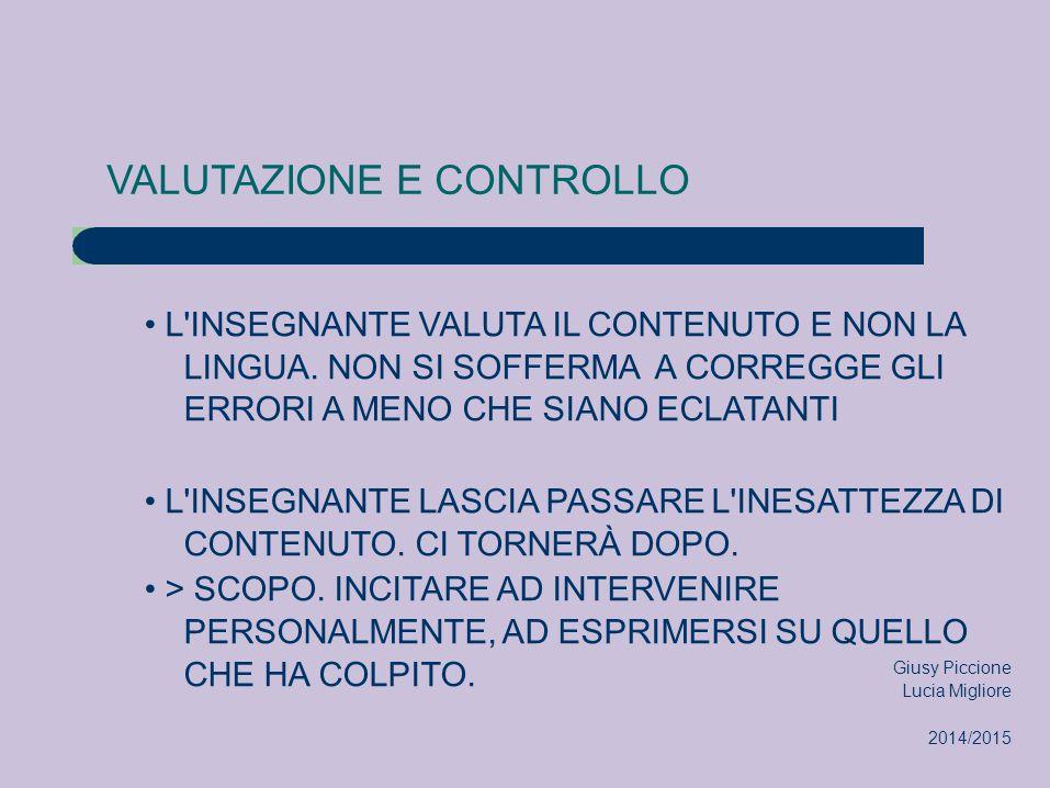 VALUTAZIONE E CONTROLLO