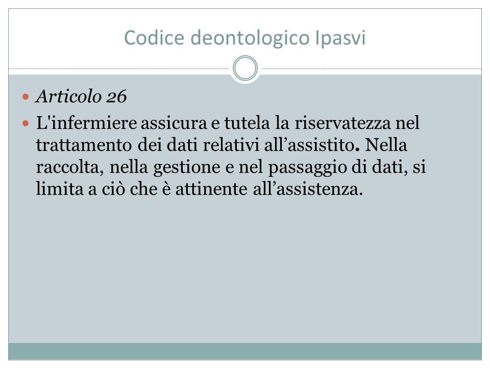 Codice deontologico Ipasvi