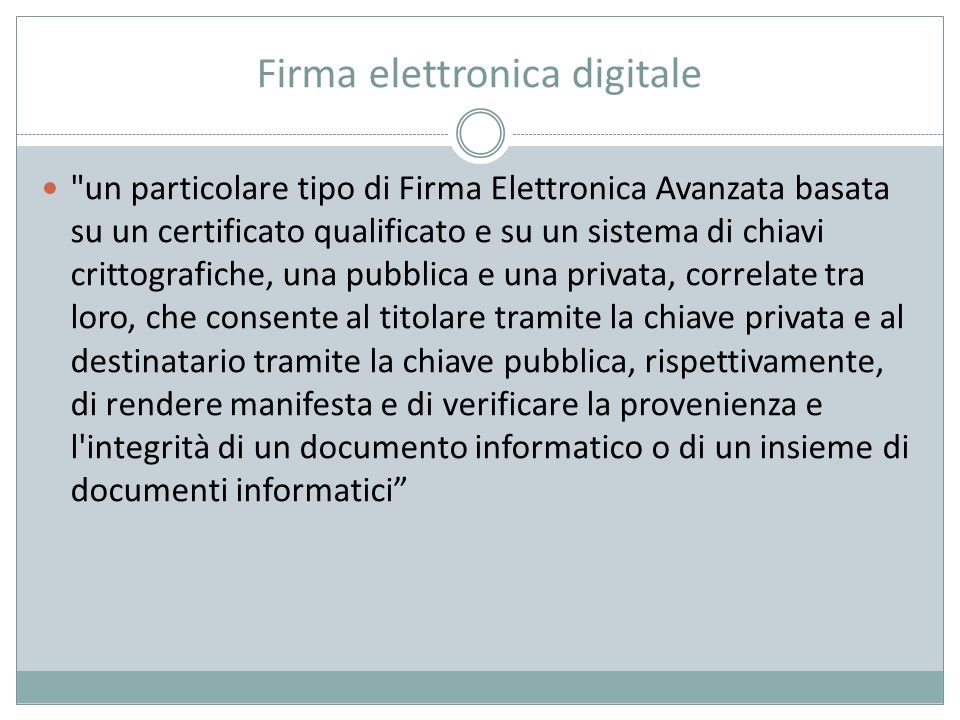 Firma elettronica digitale