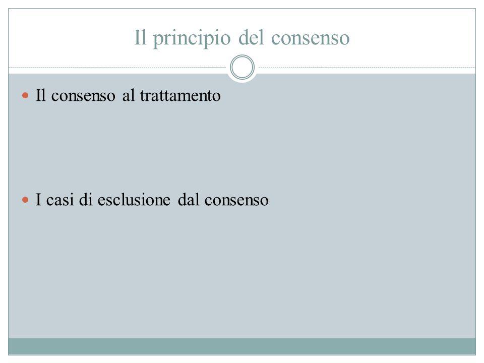 Il principio del consenso