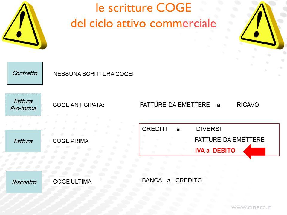 le scritture COGE del ciclo attivo commerciale