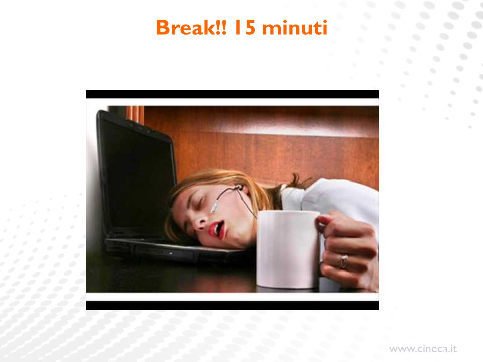 Break!! 15 minuti