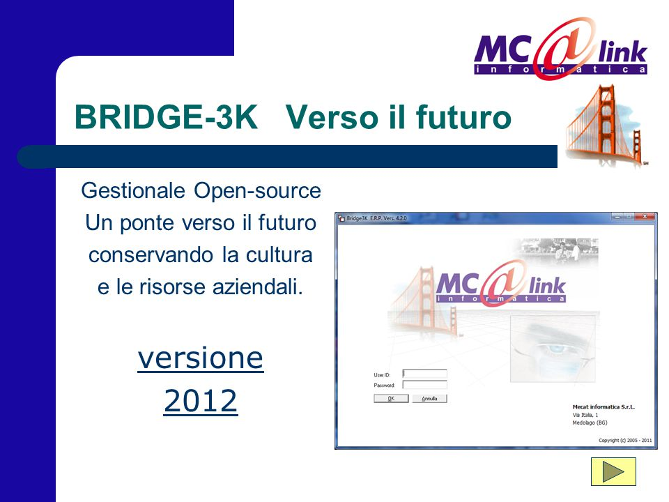 BRIDGE-3K Verso il futuro