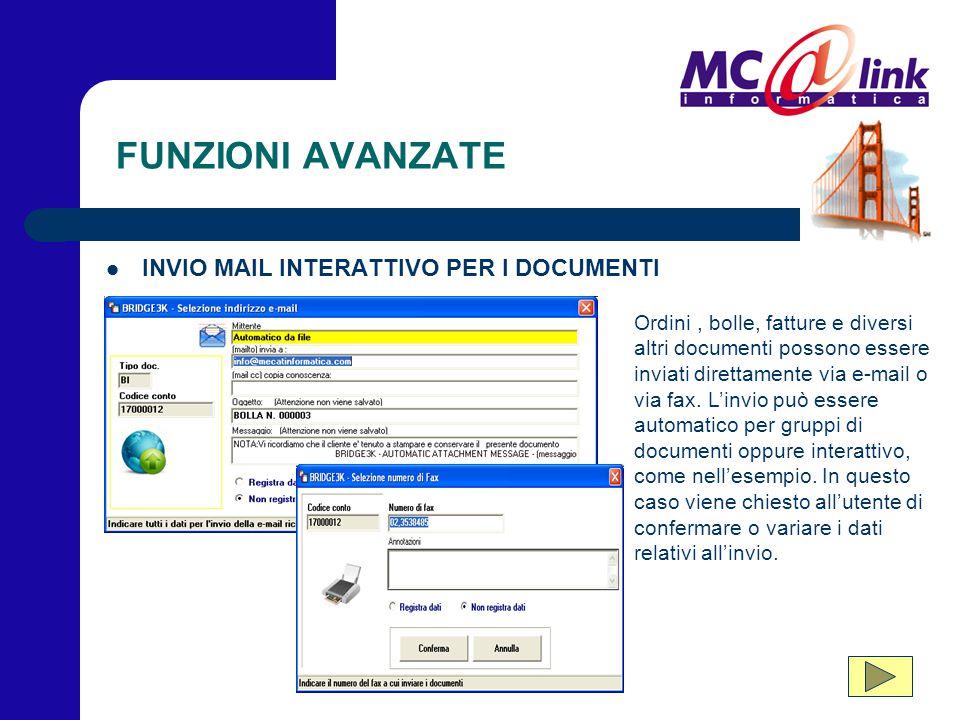 FUNZIONI AVANZATE INVIO MAIL INTERATTIVO PER I DOCUMENTI