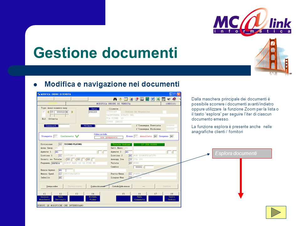 Gestione documenti Modifica e navigazione nei documenti