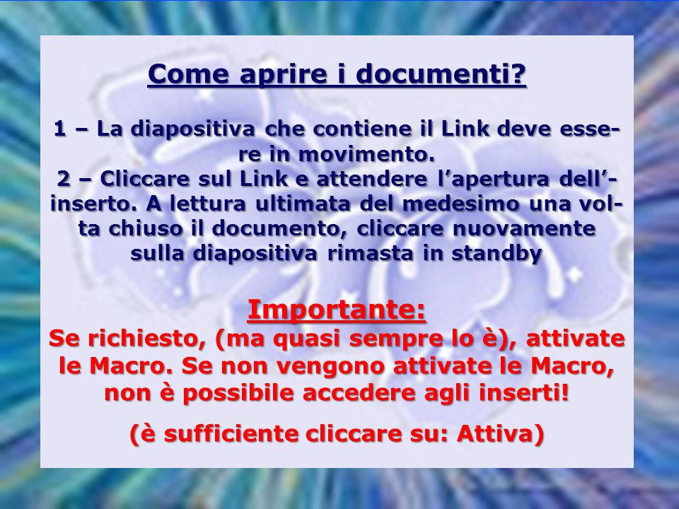 Come aprire i documenti