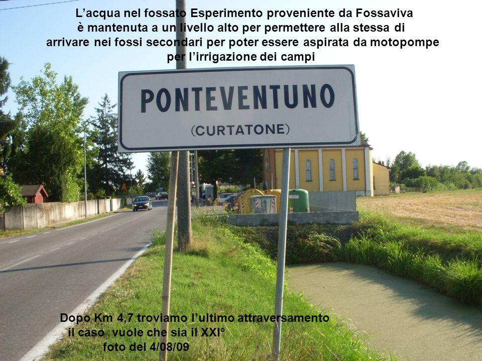 L'acqua nel fossato Esperimento proveniente da Fossaviva