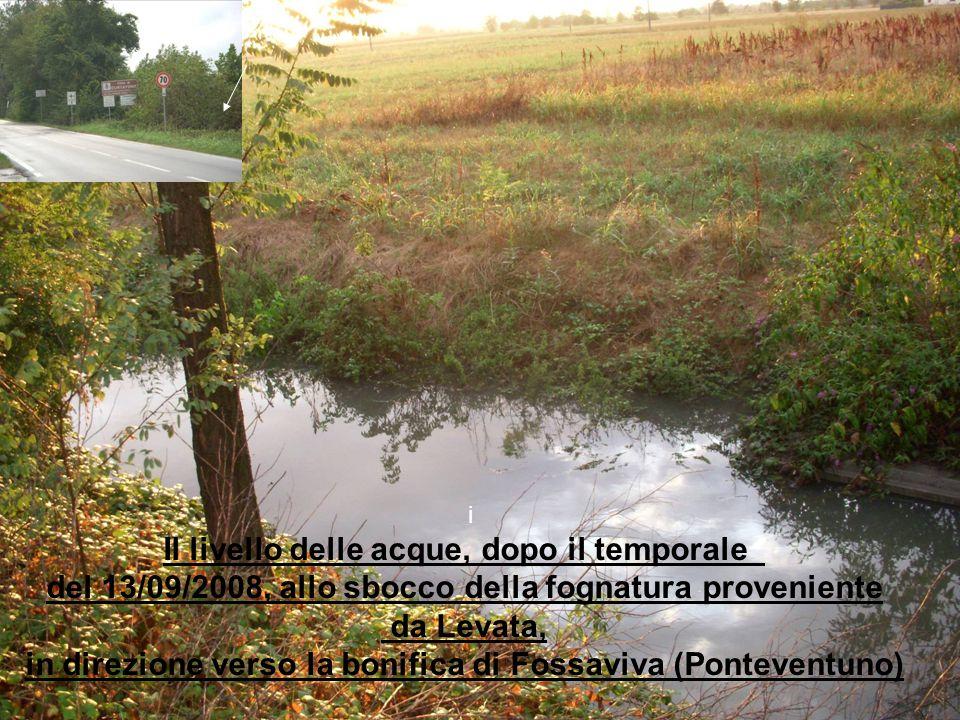 Il livello delle acque, dopo il temporale