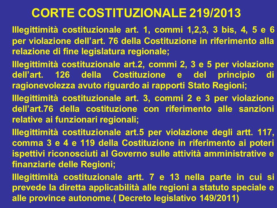 CORTE COSTITUZIONALE 219/2013