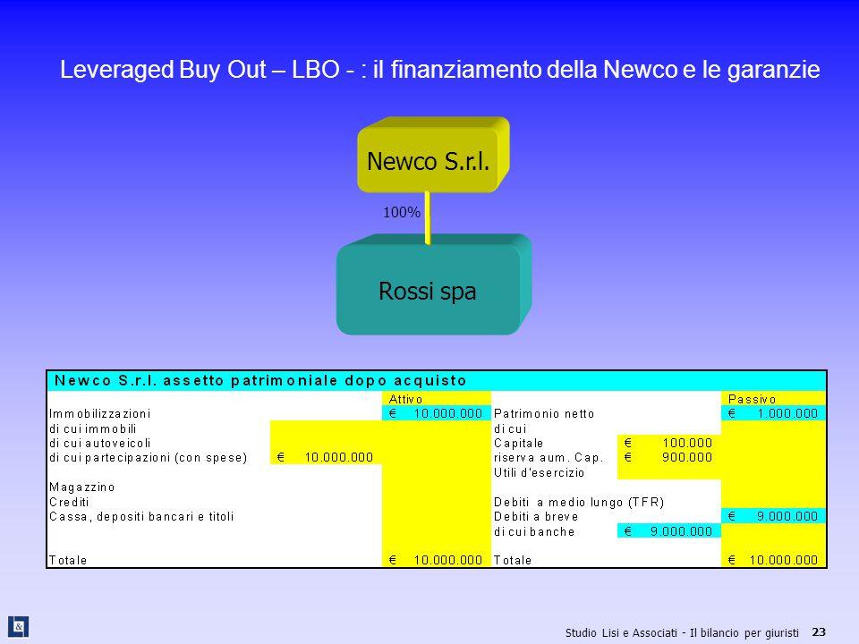 Leveraged Buy Out – LBO - : il finanziamento della Newco e le garanzie
