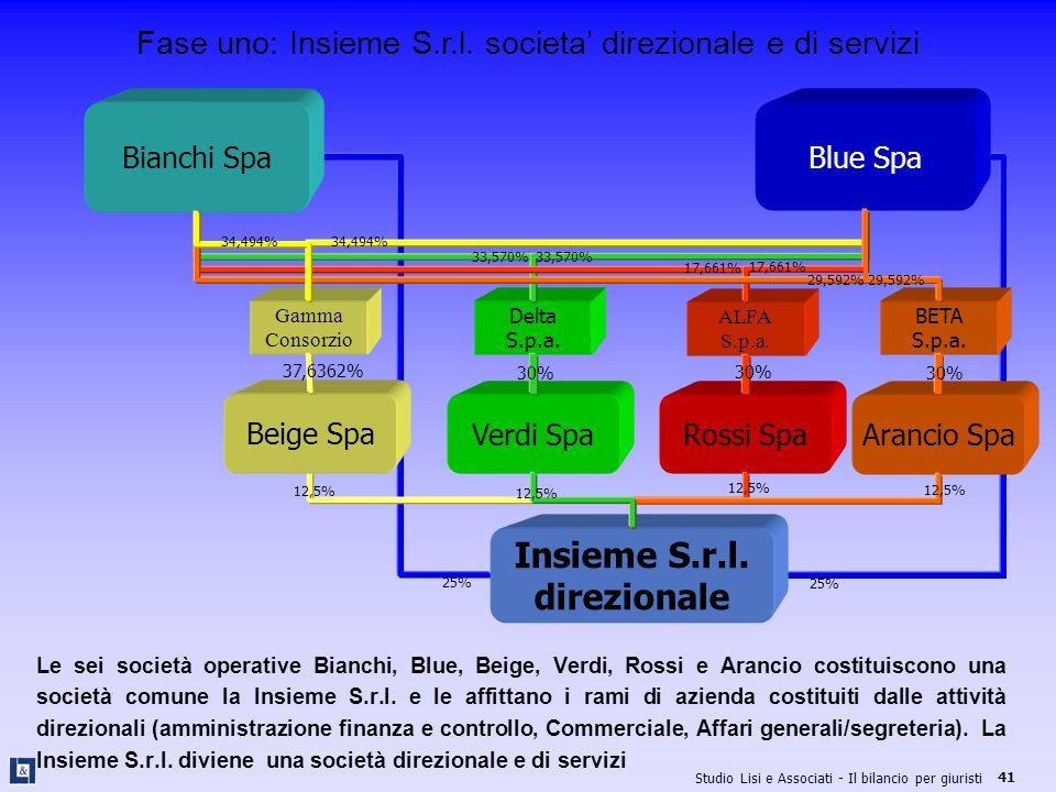 Fase uno: Insieme S.r.l. societa' direzionale e di servizi