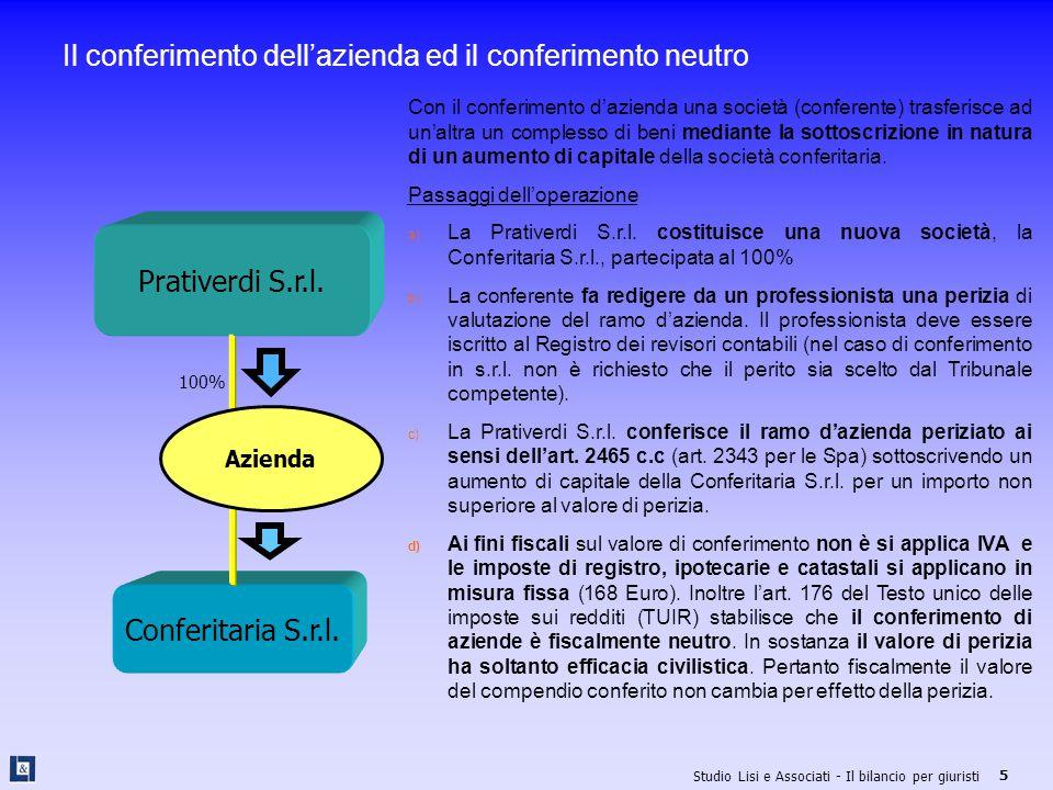 Il conferimento dell'azienda ed il conferimento neutro