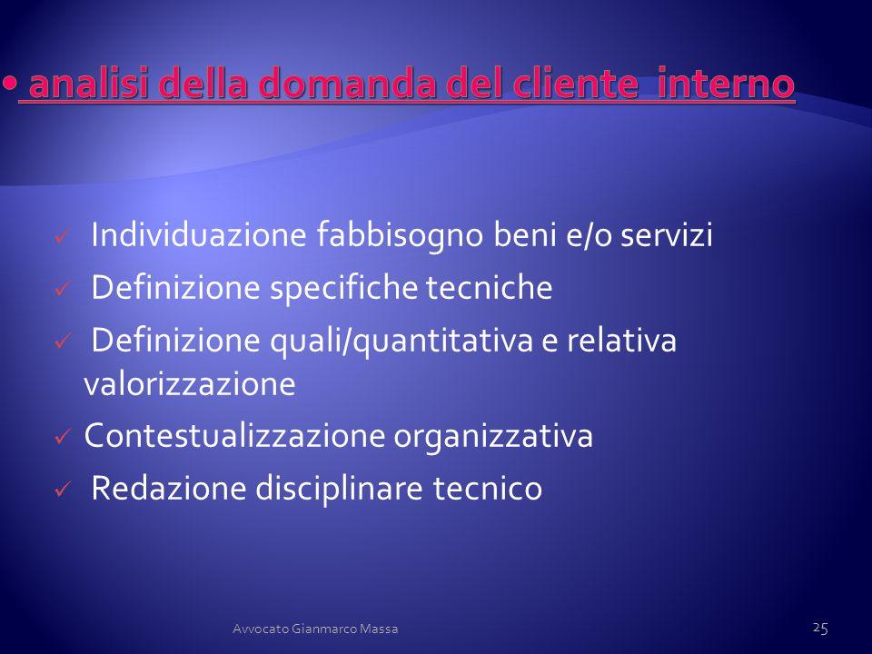 analisi della domanda del cliente interno