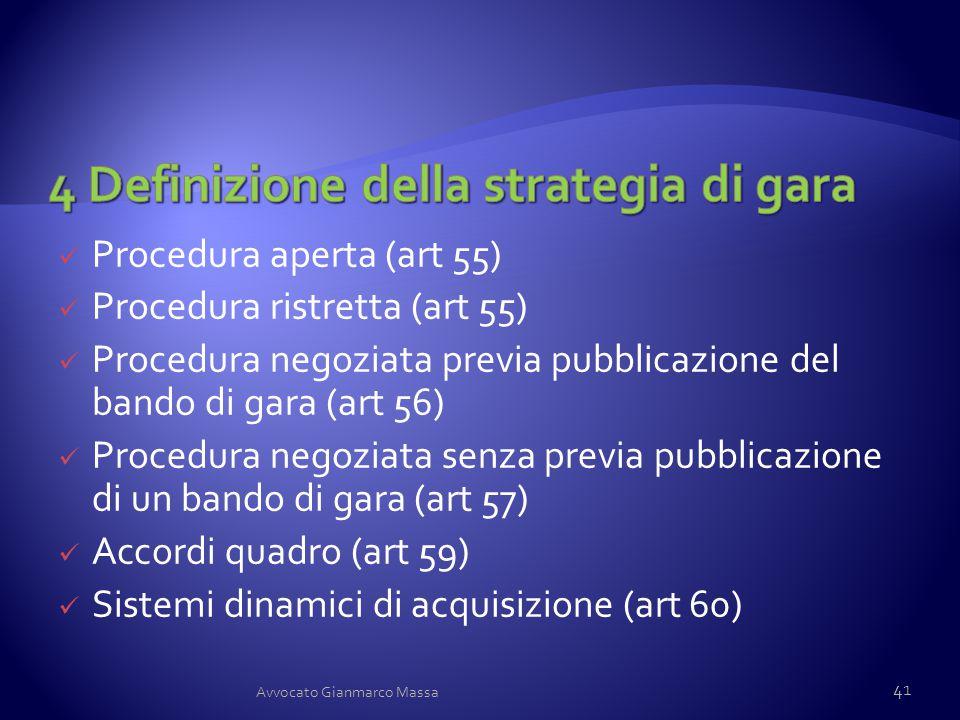4 Definizione della strategia di gara