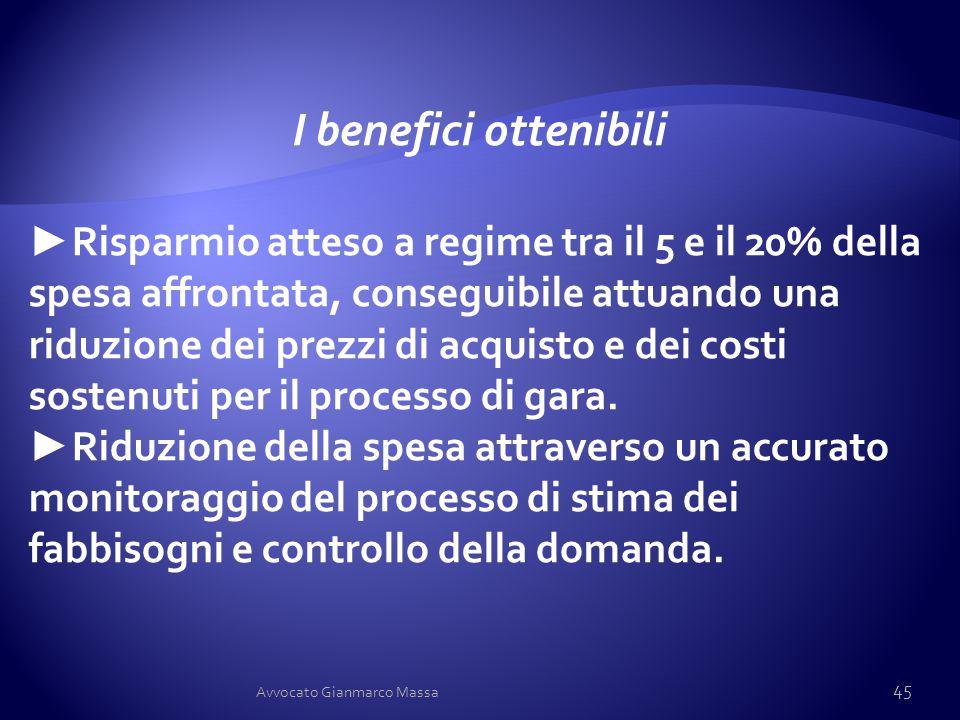 I benefici ottenibili