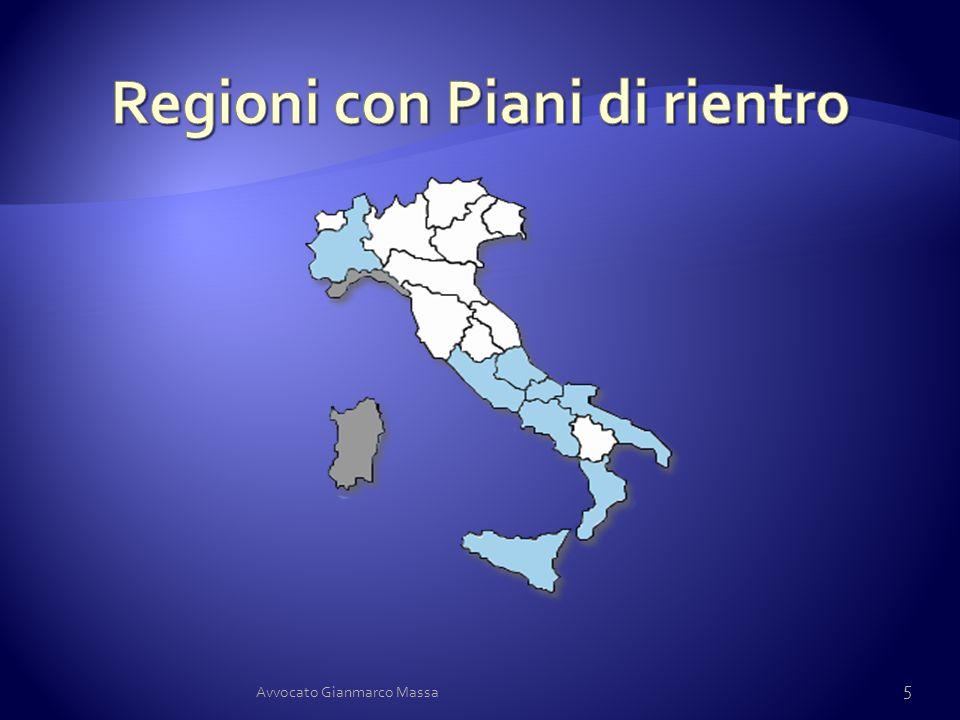 Regioni con Piani di rientro